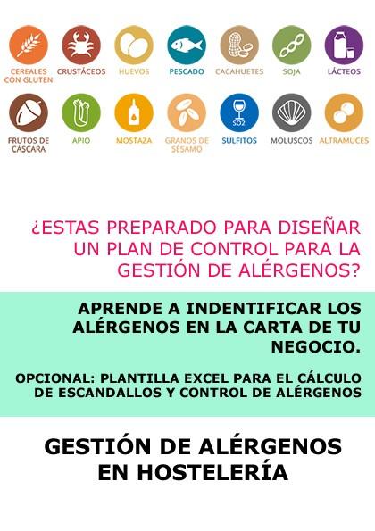 GESTIÓN DE ALÉRGENOS EN HOSTELERÍA - ONLINE