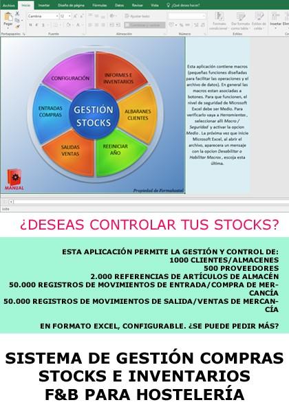 SISTEMA DE GESTIÓN COMPRAS/INVENTARIOS/STOCKS F&B EN FORMATO EXCEL