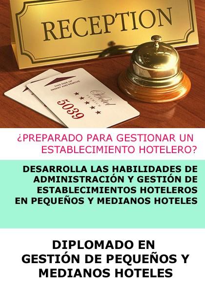 DIPLOMADO EN GESTIÓN DE PEQUEÑOS Y MEDIANOS HOTELES - ONLINE