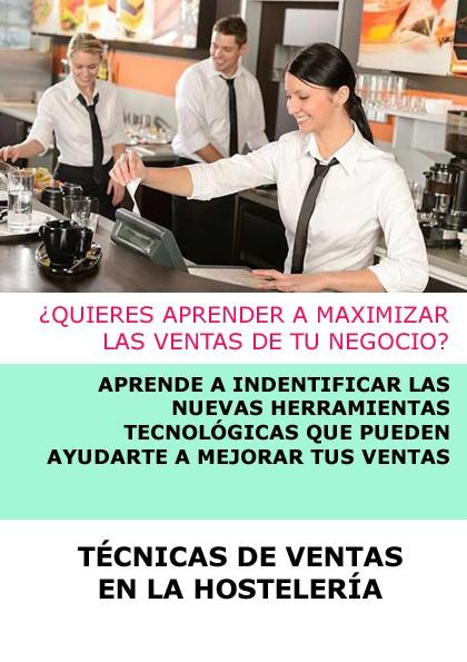 TÉCNICAS DE VENTA EN LA HOSTELERÍA CURSO ONLINE + CARTA DIGITAL 1 AÑO (OPCIONAL)