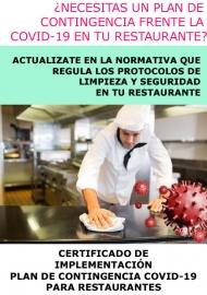 CERTIFICADO DE IMPLEMENTACIÓN PLAN DE CONTINGENCIA COVID-19 PARA RESTAURANTES - ONLINE